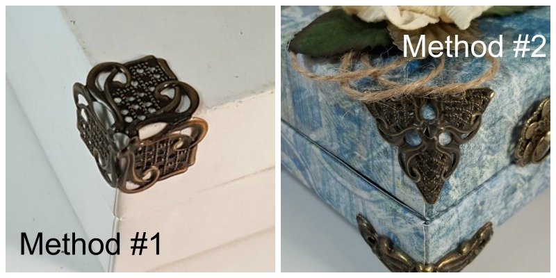 filigree box corners