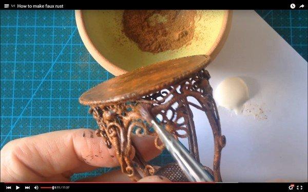faux rust technique using acrylic paints