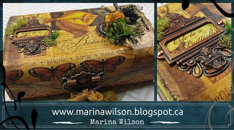 graphic 45 botanical altered box by marina wilson