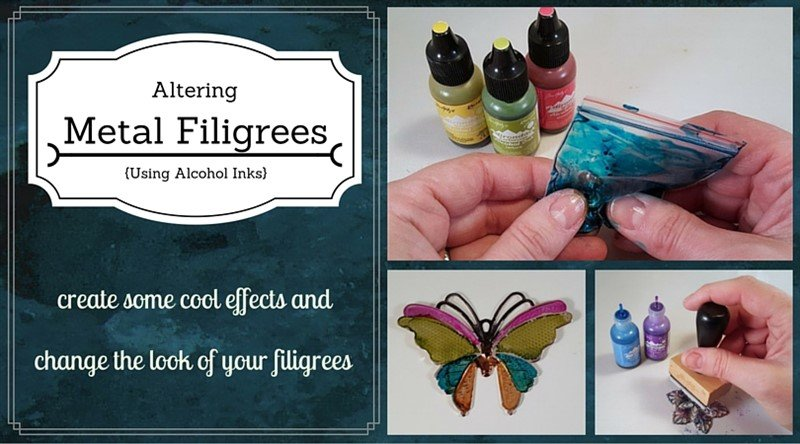 altering metal using alcohol ink feature