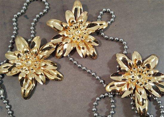 dimensional gold flower metal filigree embellishments