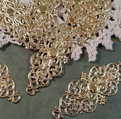 gold metal filigree embellishment