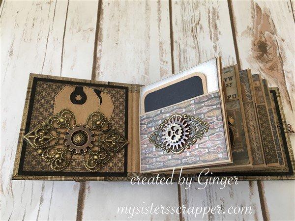 "Tim Holtz ""Dapper"" Miniature Envelope Mini Album"