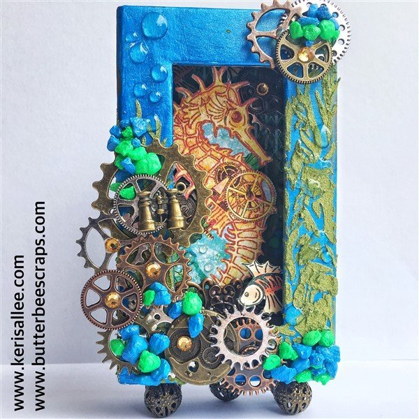 G45 Voyage Beneath the Sea Shadow Box by Keri Sallee