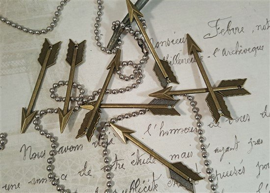 large bronze arrow charms