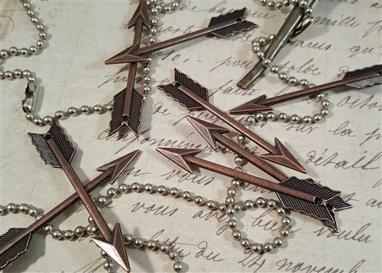 large copper arrow charms