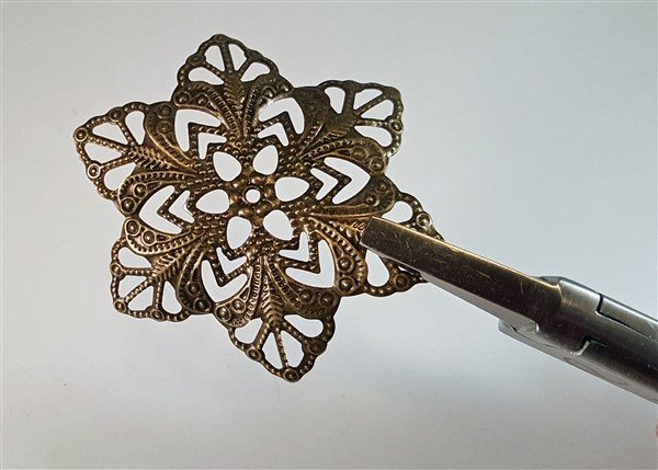 Bronze Flower Metal Filigree Embellishments (#283-B)
