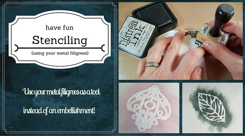 using metal filigrees as stencils tutorial