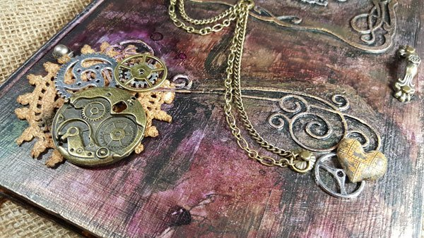 Steampunk Book Cover Tutorial : Tutorial of the month steampunk book cover butterbeescraps